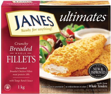 JANES ULTIMATES WHOLE FILLETS 920 g - 1 kg or JANES ULTIMATES BONELESS BITES 900 g