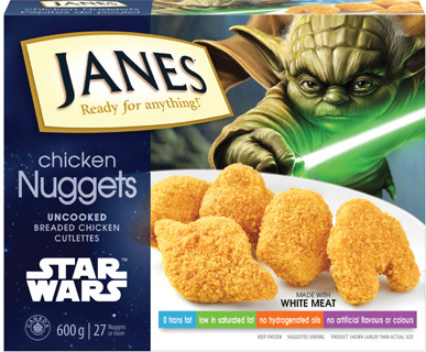 JANES STAR WARS CHICKEN NUGGETS 600 g or JANES NATURAL GOODNESS STRIPS OR NUGGETS 700 g or JANES ULTIMATES BURGER 852 g