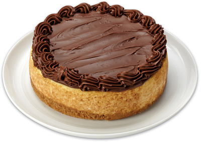FRONT STREET BAKERY CHEESECAKE TOPPED WITH NUTELLA