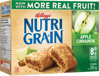 KELLOGG'S NUTRI-GRAIN, SPECIAL K, RICE KRISPIES SQUARES OR POP-TARTS