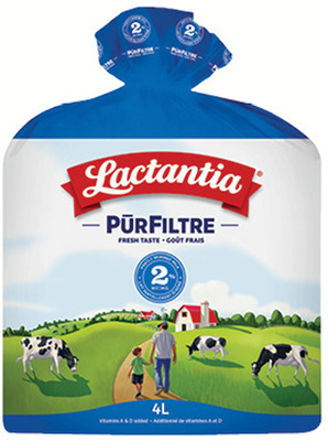 LACTANTIA PURFILTRE MILK 4 L, 1%, 2% OR SKIM HOMO 5.99