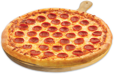 """FRESH 2 GO PEPPERONI OR CHEESE 16"""" X-LARGE HOT PIZZA"""