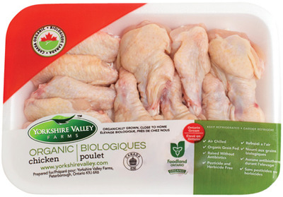 YORKSHIRE VALLEY FARMS FRESH ORGANIC CHICKEN WINGS