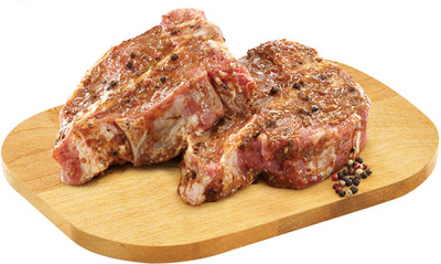 PEPPERCORN VEAL RIB OR LOIN CHOPS