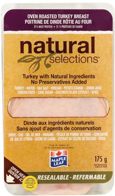 MAPLE LEAF NATURAL SELECTIONS OR IRRESISTIBLES ARTISAN SLICED DELI MEATS