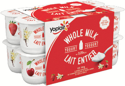 YOPLAIT WHOLE MILK YOGURT 12 X 100 g or IÖGO YOGURT POUCHES 750 - 975 g