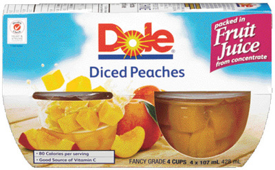 DOLE FRUIT POUCHES OR BOWLS