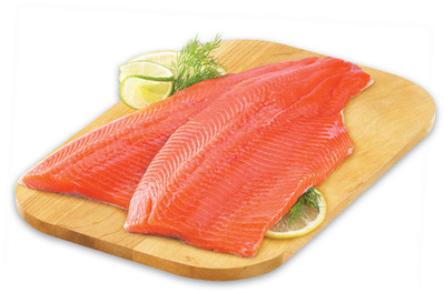 Fresh Rainbow Trout or Tilapia Fillets FAMILY PACK, MIN. 900 g, 7.99/lb 1.77/100 g or Tilapia Fillets Argentinean Pink Wild Raw Shrimp FROZEN, 20 - 40 SIZE, 340 g, 7.99 EA