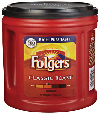 FOLGERS GROUND COFFEE, TASSIMO NABOB, TIMOTHY'S, VAN HOUTTE OR DONUT HOUSE T-DISC OR K-CUP COFFEE CAPSULES