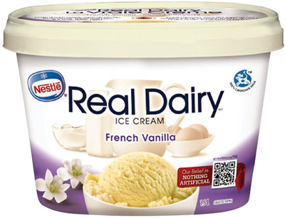 NESTLÉ REAL DAIRY ICE CREAM, NOVELTIES OR IRRESISTIBLES FROZEN FRUIT