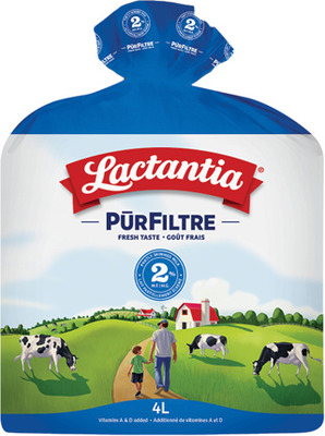 LACTANTIA PURFILTRE MILK 4 L 1%, 2% OR SKIM (HOMO 5.49) OR LACTOSE FREE MILK 2 L