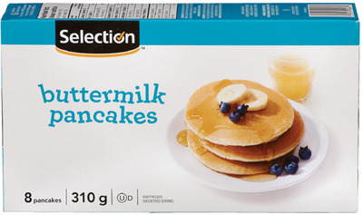 SELECTION WAFFLES OR PANCAKES