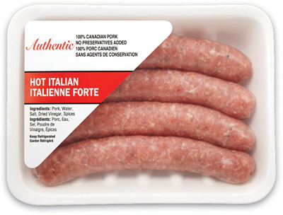 AUTHENTIC ITALIAN SAUSAGES OR SAUSAGE MEAT