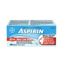 Aspirin Coated Daily Low Dose 81Mg Tablets 180's, Aleve Liquid Gels 80'S Or Caplets 125's