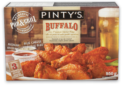 Pinty's Breaded Chicken or Chicken Wings