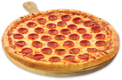 "FRESH 2 GO PEPPERONI OR CHEESE 16"" X-LARGE HOT PIZZA"