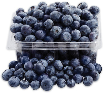 BLUEBERRIES PINT PRODUCT OF CANADA, CANADA No. 1 GRADE STRAWBERRIES 454 g PRODUCT OF U.S.A., No. 1 GRADE