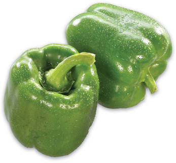 GREEN SWEET PEPPERS PRODUCT OF ONTARIO FIELD OR ROMA TOMATOES PRODUCT OF ONTARIO