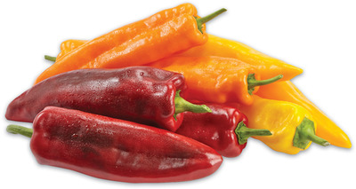 SWEET RED, ORANGE OR YELLOW RUSTICO PEPPERS