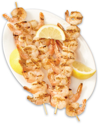 PACIFIC WHITE SHRIMP OR SCAMPI SKEWERS