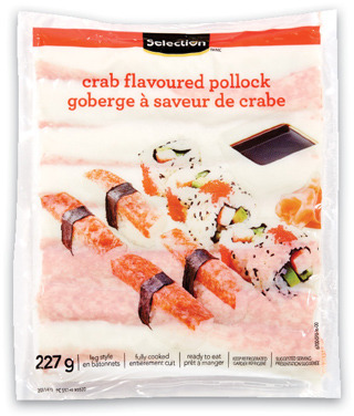 SELECTION IMITATION CRAB 227 g or POLLOCK OR BASA FILLETS FROZEN, 400 g