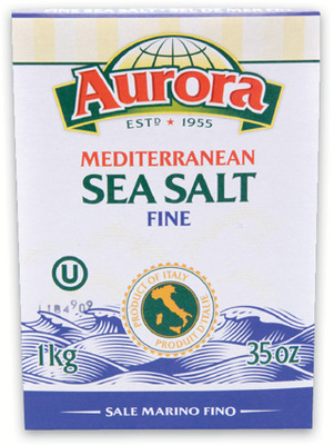 AURORA SEA SALT, DICED TOMATOES