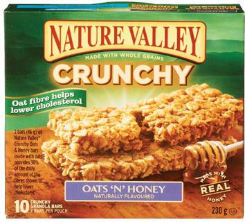 G.H. CRETORS NATURE VALLEY BARS OR BETTY CROCKER FRUIT SNACKS