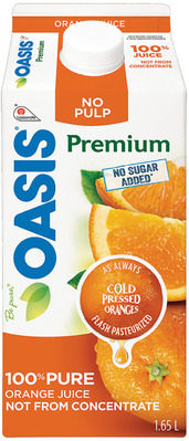 OASIS ORANGE JUICE, HEALTHBREAK, SMOOTHIES
