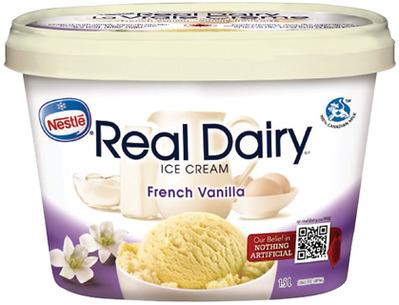 Nestlé Real Dairy Ice Cream, Frozen Dessert, Novelties or Irresistibles Frozen Fruit
