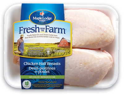 MAPLE LODGE FRESH FROM THE FARM FRESH SPLIT CHICKEN WINGS OR BONE IN CHICKEN BREAST 11.00/kg