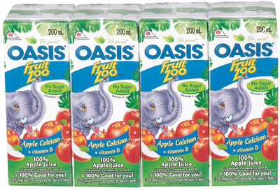 OASIS FRUIT JUICE 8 X 200 ml OR 1.36 L ROUGEMONT APPLE JUICE 2 L