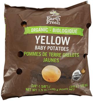 EARTH FRESH ORGANIC RED OR YELLOW BABY POTATOES