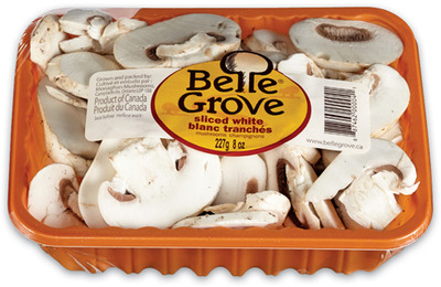 BELLE GROVE SLICED WHITE OR CRIMINI MUSHROOMS 227 g