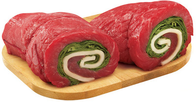 PLATINUM GRILL ANGUS INSIDE ROUND LONDON BROIL, BEEF ALOUETTE, PINWHEELS OR STUFFED CUTLETS