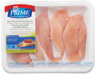 MAPLE LEAF PRIME FRESH BONELESS SKINLESS CHICKEN BREAST PORTIONS