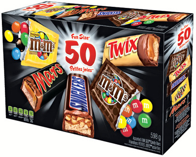 MARS FUN SIZE 50 un. or NESTLÉ CHOCOLATE 70 un.