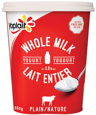 YOPLAIT SOURCE OR WHOLE MILK YOGURT 650 g, MINIGO OR TUBES 6 - 8 X 60 g
