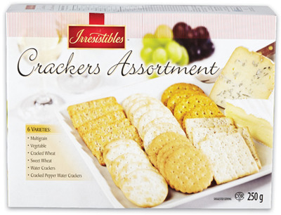 IRRESISTIBLES ASSORTED CRACKERS