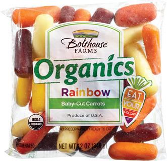 ORGANIC RAINBOW MINI CARROTS