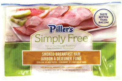 PILLER'S SIMPLY FREE BREAKFAST OR CORNMEAL BACK BACON