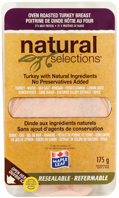 MAPLE LEAF NATURAL SELECTIONS, CANADIAN CRAFT OR GREENFIELD NATURAL MEAT CO. SLICED DELI MEATS