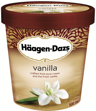 HÄAGEN-DAZS ICE CREAM, GELATO OR NOVELTIES