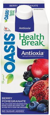 OASIS HEALTHBREAK JUICES OR SMOOTHIES
