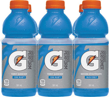PEPSI OR SHWEPPES SOFT DRINKS, GATORADE SPORT DRINKS