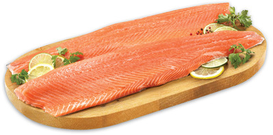 Fresh Wild Caught Keta Salmon or Canadian Haddock Fillets