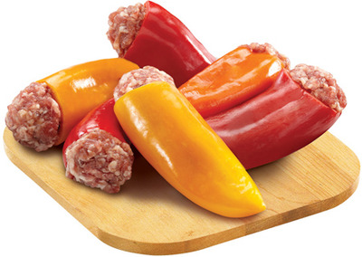 FRESH STORE MADE STUFFED PEPPERS OR MUSHROOMS