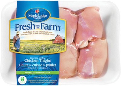 MAPLE LODGE FRESH BONELESS SKINLESS CHICKEN THIGHS FRESH FROM THE FARM OR ZABIHA HALAL