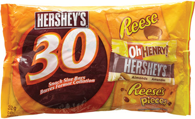 HERSHEY'S SNACK SIZE HALLOWEEN CANDY