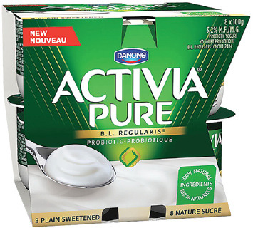DANONE ACTIVIA 650 g, 8 X 100 g or OIKOS GREEK YOGURT 4 X 95 - 100 g, 500 g