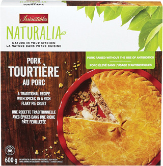 IRRESISTIBLES THREE-MEAT PIE OR NATURALIA PORK TOURTIÈRE
